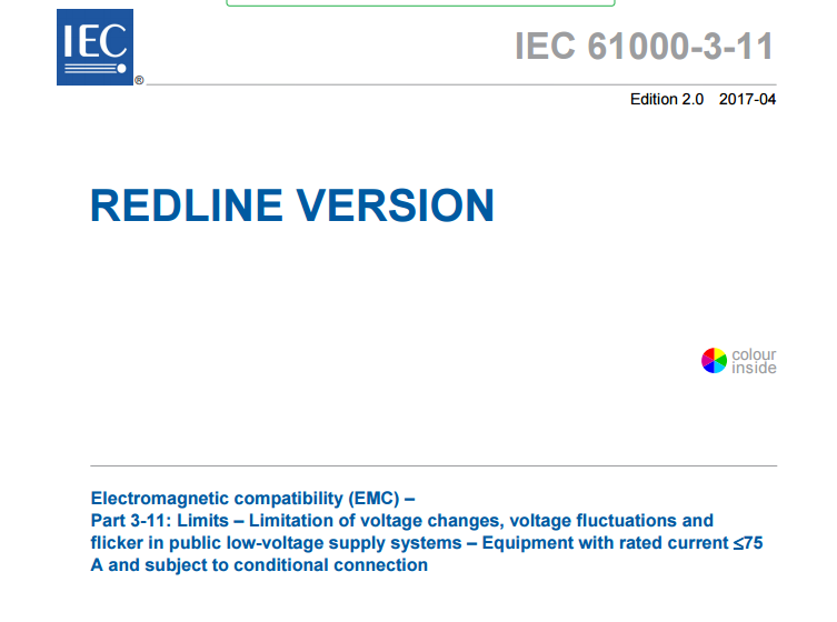IEC 61000-3-11:2017 RLV  Redline version